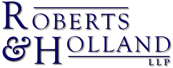 Logo for Roberts & Holland LLP